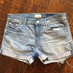 Mother SNS Short Fray Cuff Shorts